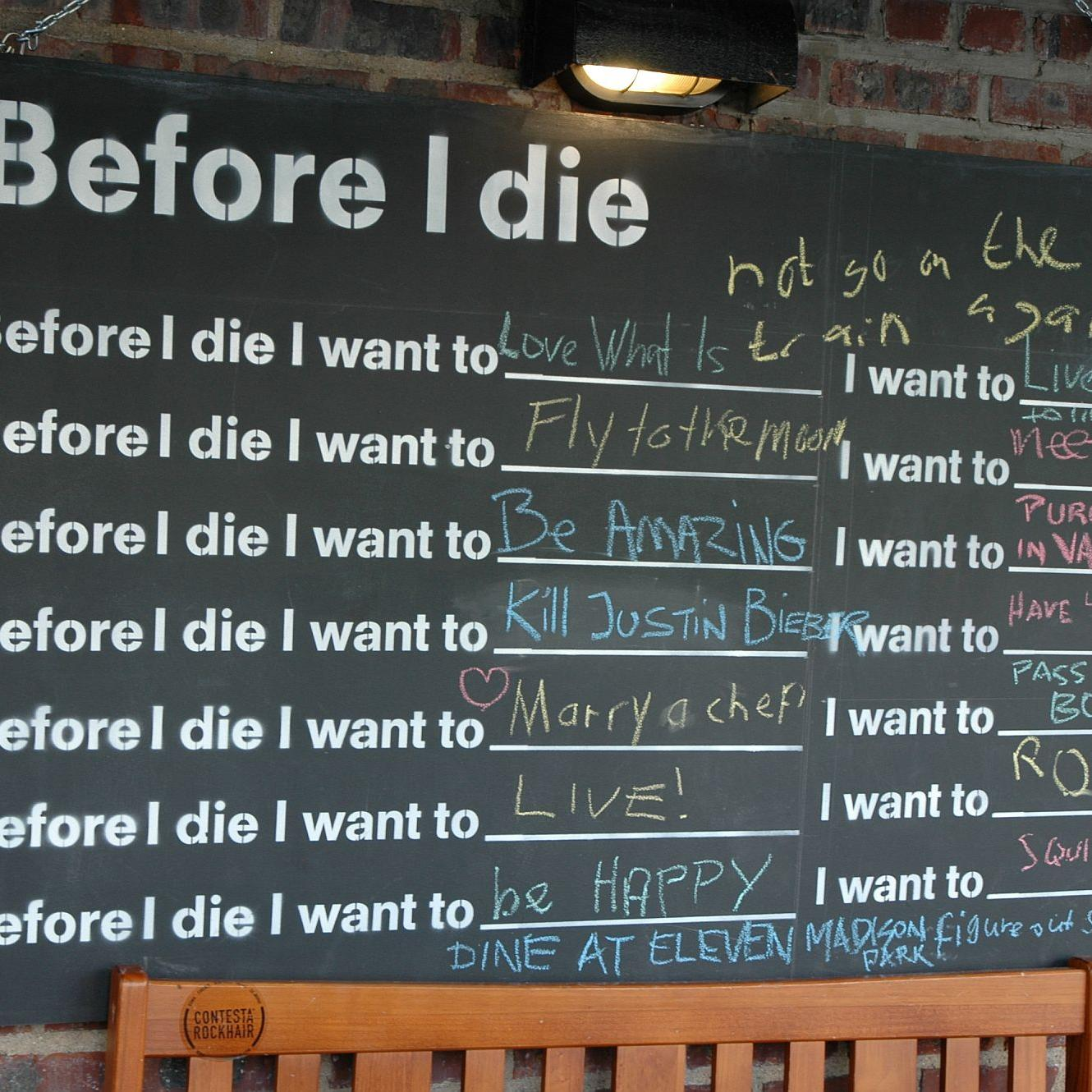 Before I die (c) Thomas Hohenschue